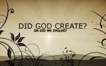 Did God Create or Did WE Evolve?